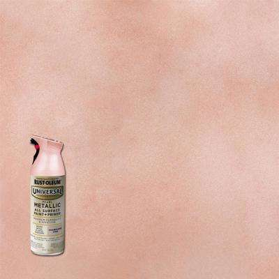 11 oz. All Surface Metallic Pearl Champagne Pink Spray Paint and Primer in One