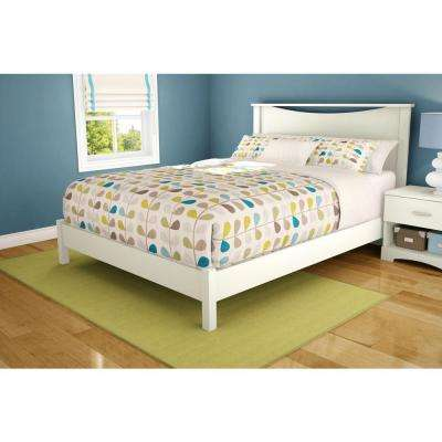 Step One Queen-Size Platform Bed in Pure White
