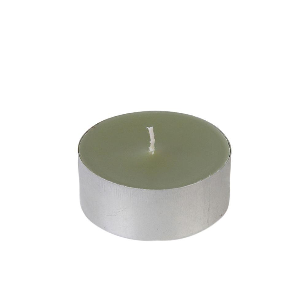 2.25 in. Sage Green Mega Oversized Tealights Candles (12-Box)