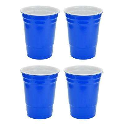 16 oz. Blue Hard Plastic Cup (4-Pack)