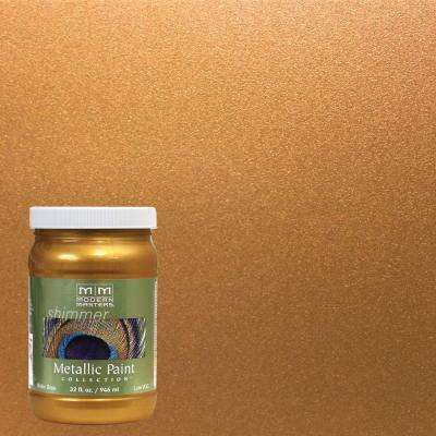 1 qt. Tequila Gold Water-Based Satin Metallic Interior/Exterior Paint