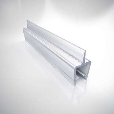 96 in. L Clear Vinyl Seal with a Flexible Fin for 3/8 in. Glass Shower Door