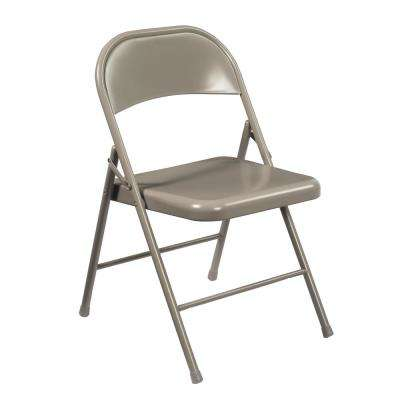 NPS 900 Series Grey All-Steel Commercialine Folding Chairs (4-Pack)