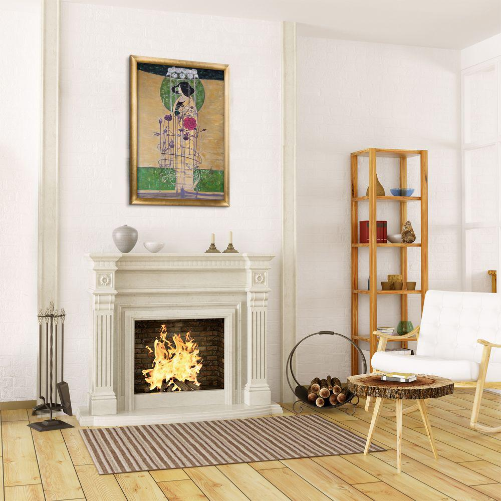 La Pastiche 27 in. x 39 in. Design for a Wall Decoration with Gold Frame  by Charles Rennie Mackintosh Framed Wall Art, Multi-Colored was $861.98 now $462.06 (46.0% off)