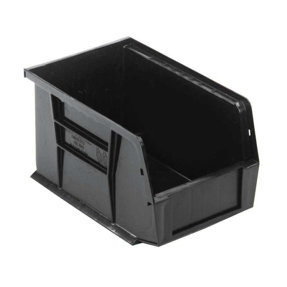Ultra Series Stack and Hang 2.4 Gal. Storage Bin in Black (12-Pack)