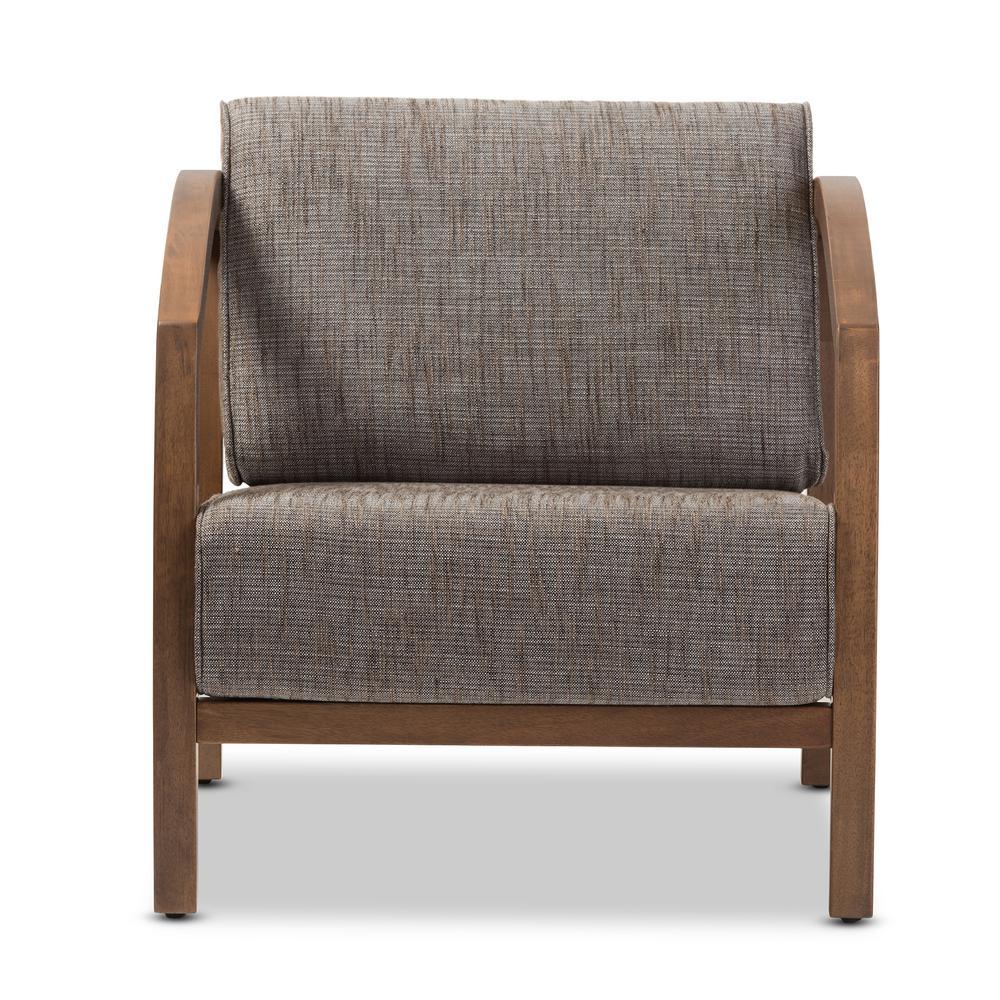 Baxton Studio Velda Gravel Multi-Color Fabric Arm Chair
