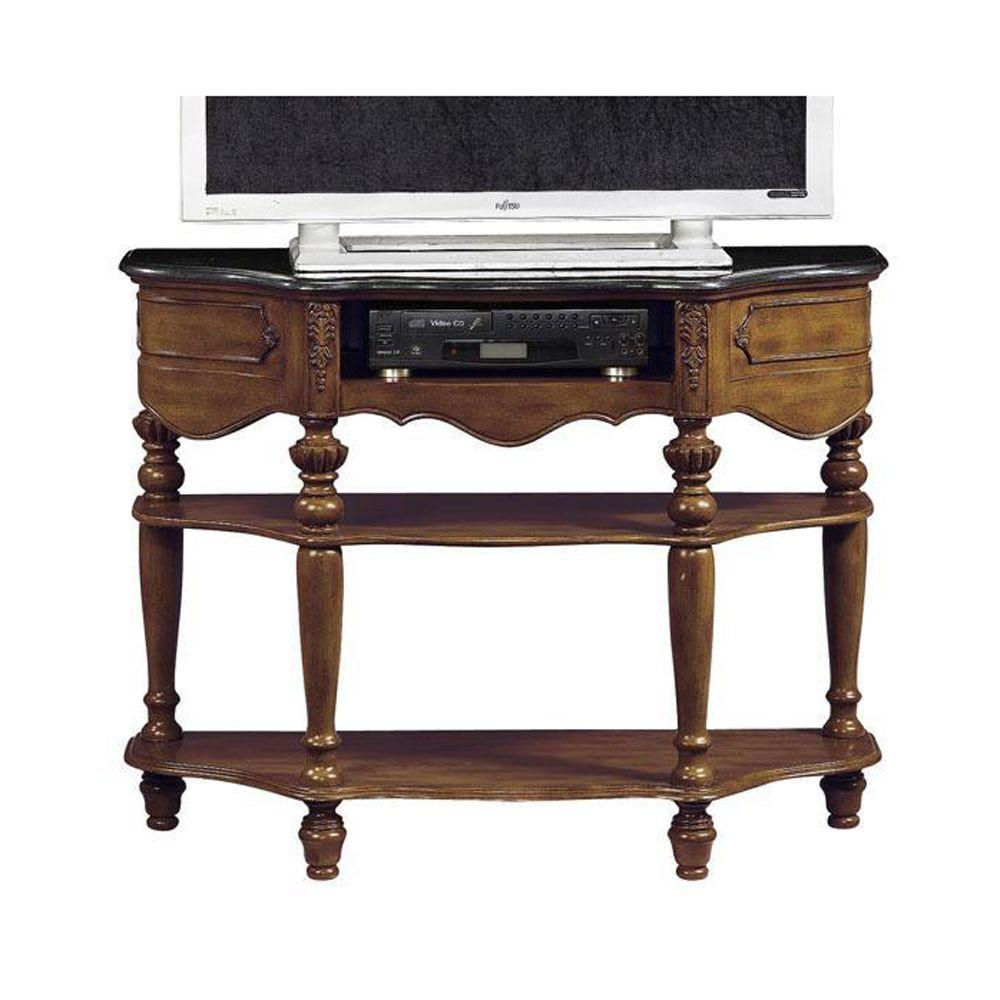 Home Decorators Collection 48 in. W TV Stand with Media Storage Baymond Plymouth Brown