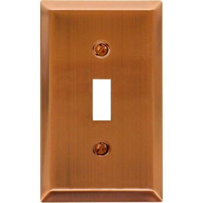 Metallic 1 Gang Toggle Steel Wall Plate - Antique Copper