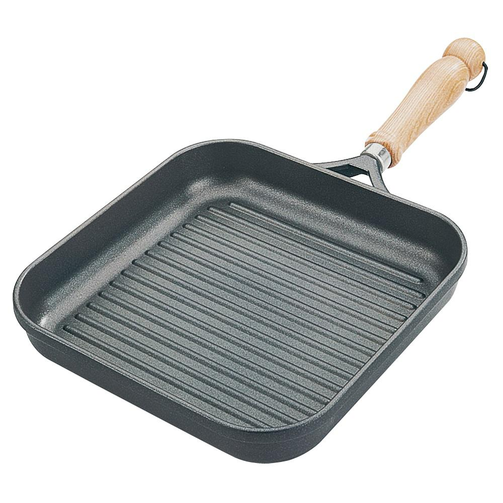 10 in. Tradition Square Grill Pan Square, Gray
