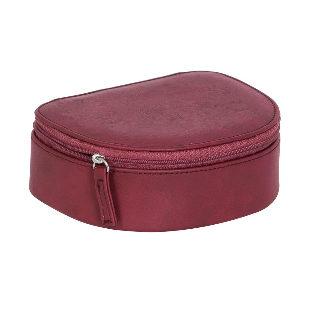 Mele Rowley Dark Cherry Faux Leather Jewelry Box0062422M The Home