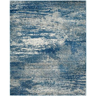Evoke Navy/Ivory 8 ft. x 10 ft. Area Rug
