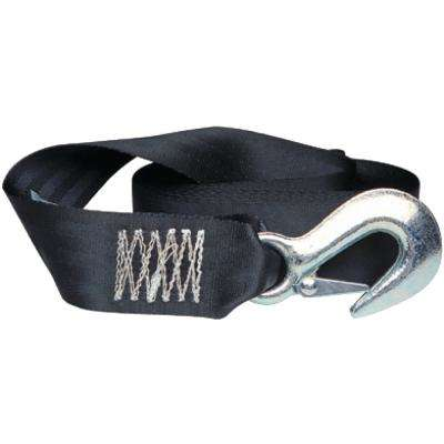 2 in. x 15 ft. Winch Strap with Heavy-Duty forged Latch Hook