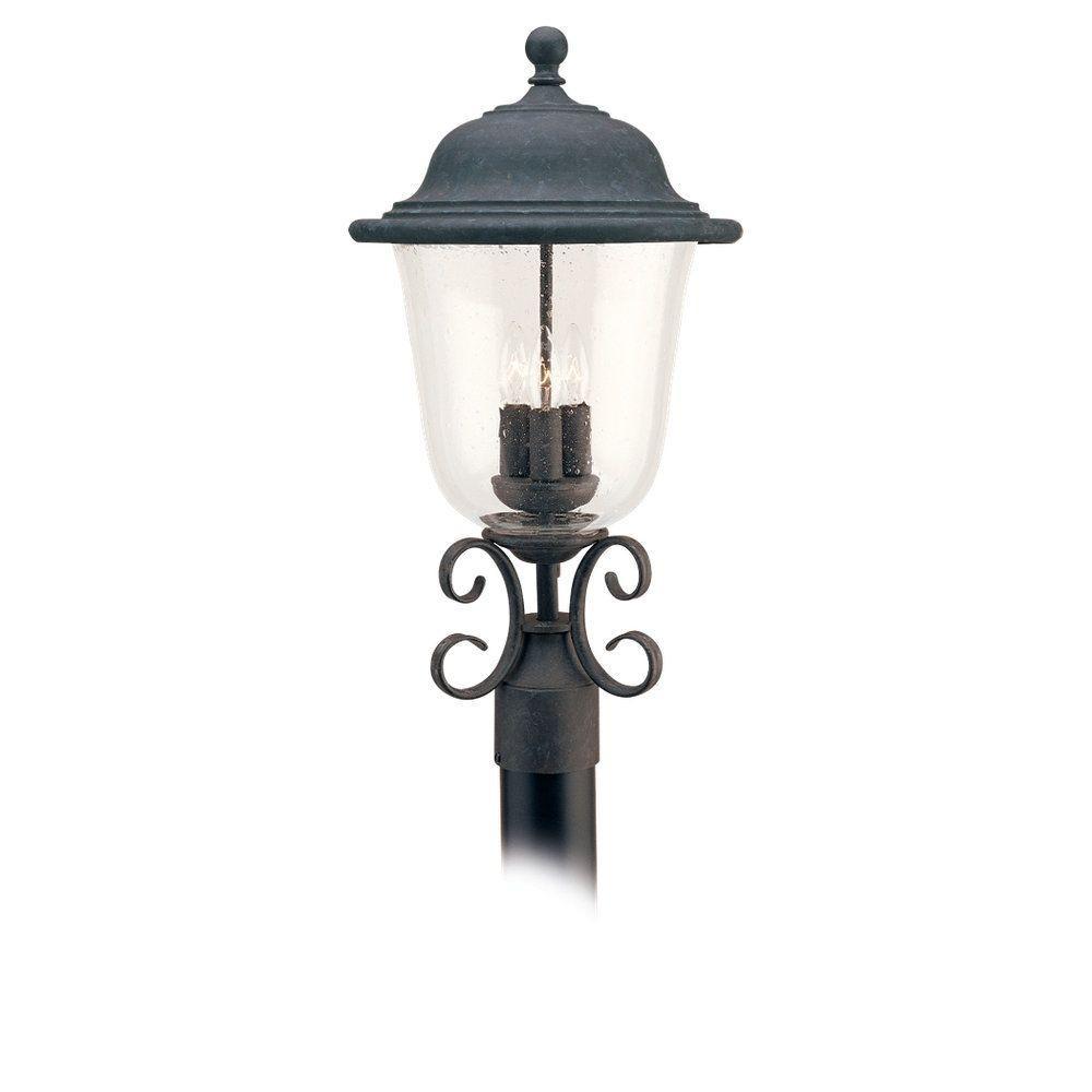 Trafalgar 3-Light Outdoor Oxidized Bronze Post Top