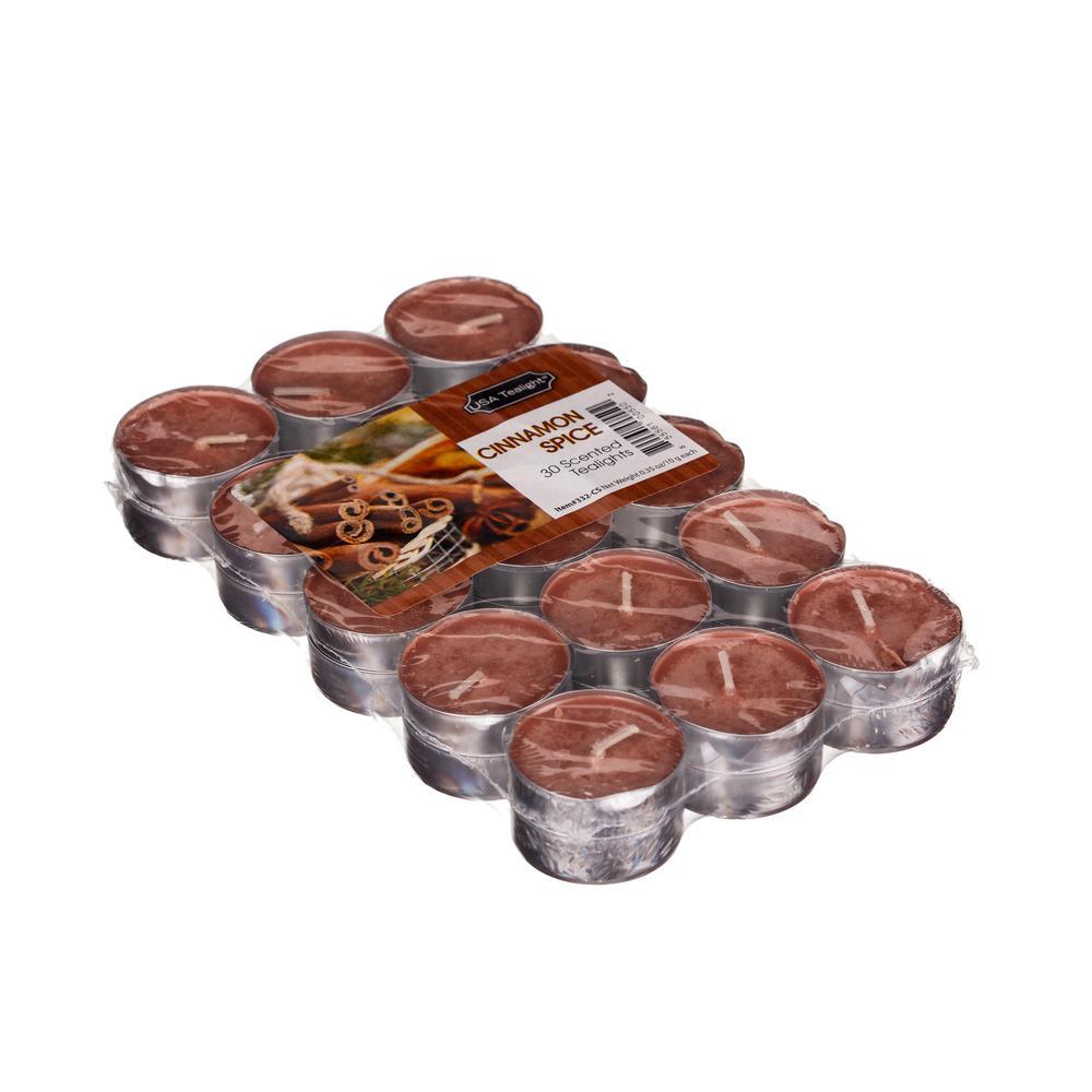 Cinnamon Spice Tealight Candles (30-Set)