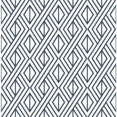 Diamond Geometric Vinyl Peelable Wallpaper (Covers 30.75 sq. ft.)