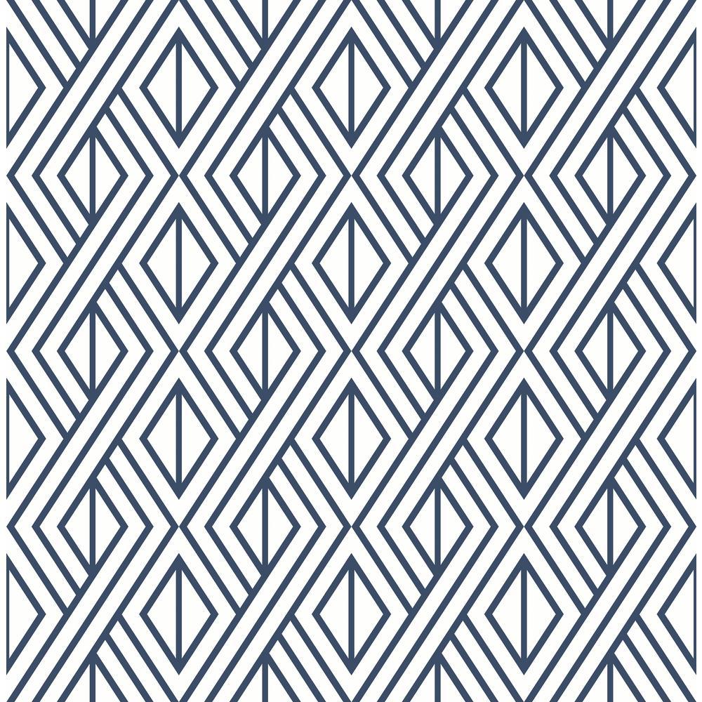 Diamond Geometric Vinyl Peelable Wallpaper (Covers 30.75 sq. ft.)
