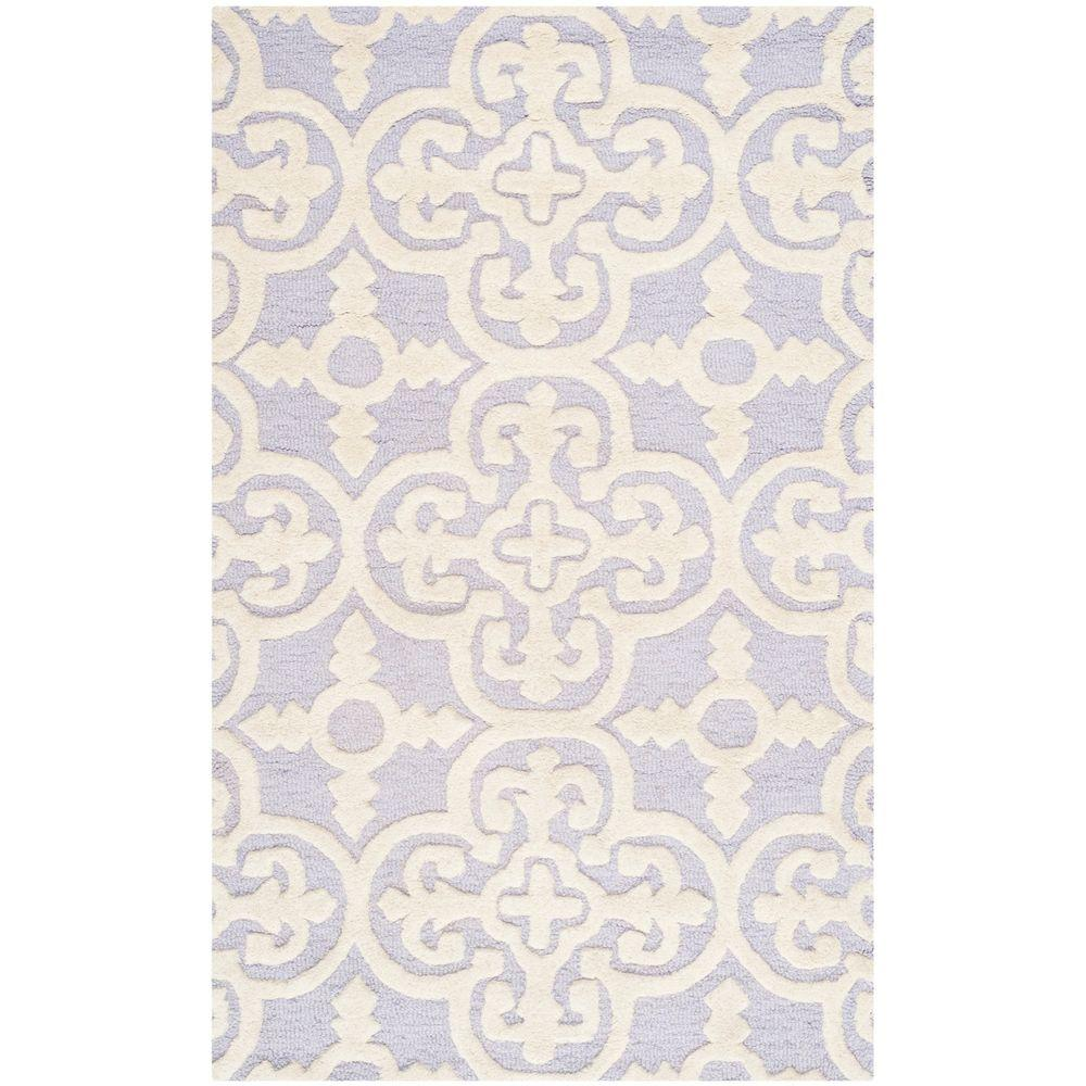 Cambridge Lavender/Ivory 3 ft. x 5 ft. Area Rug