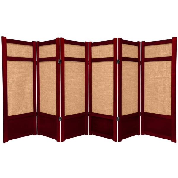4 ft. Rosewood 6-Panel Room Divider