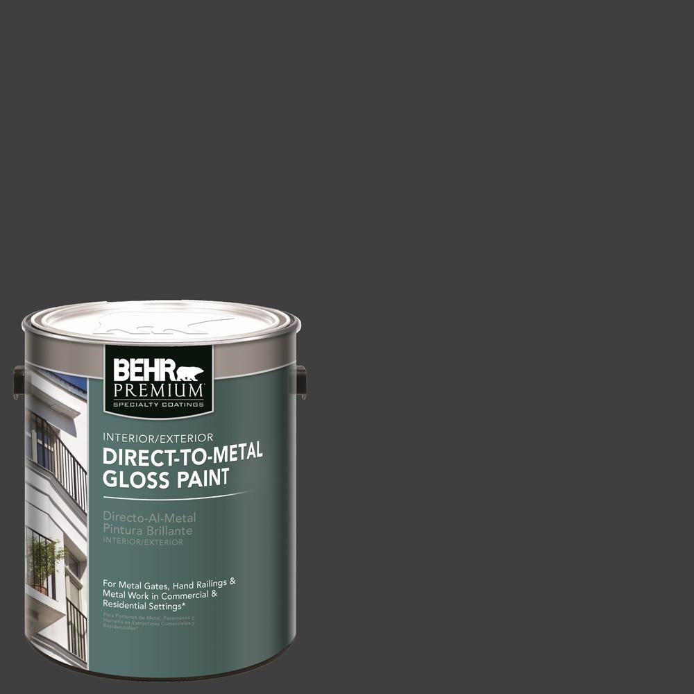 BEHR Premium 1 gal  Black Gloss Direct to Metal Interior/Exterior Paint