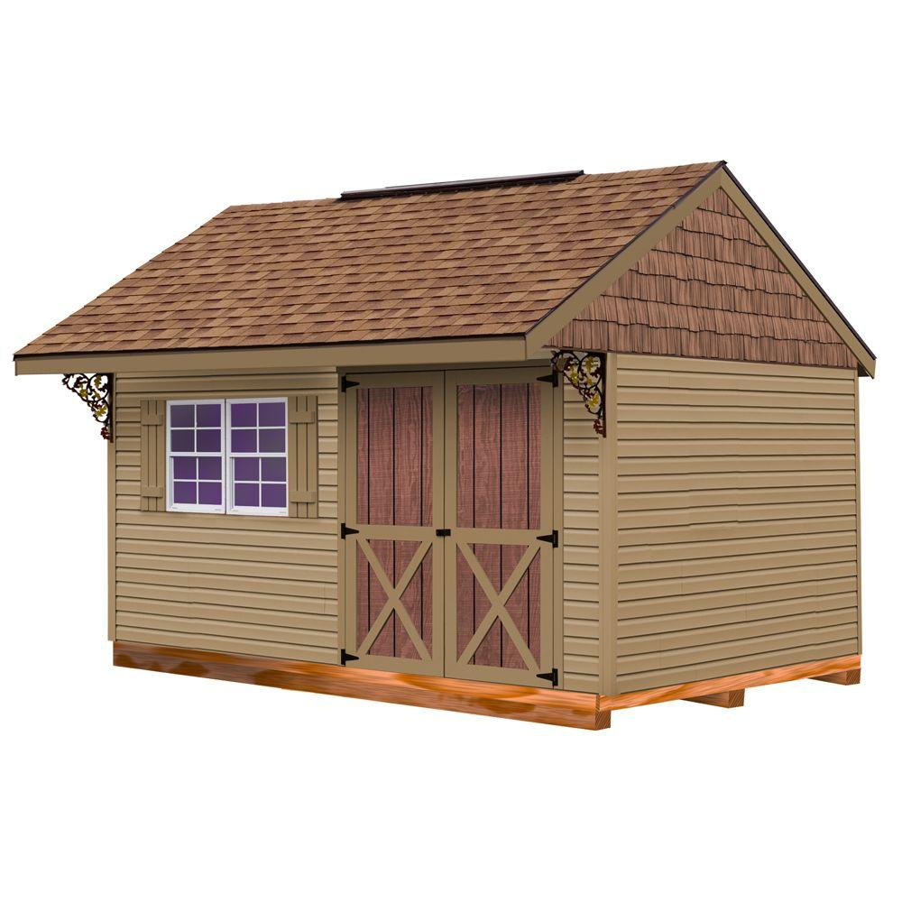 Best Barns Clarion 10 ft. x 14 ft. Prepped for Vinyl Storage Shed Kit with Floor including 4x4 Runners