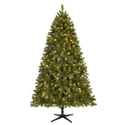pre lit led wesley spruce artificial christmas tree with 550 color changing