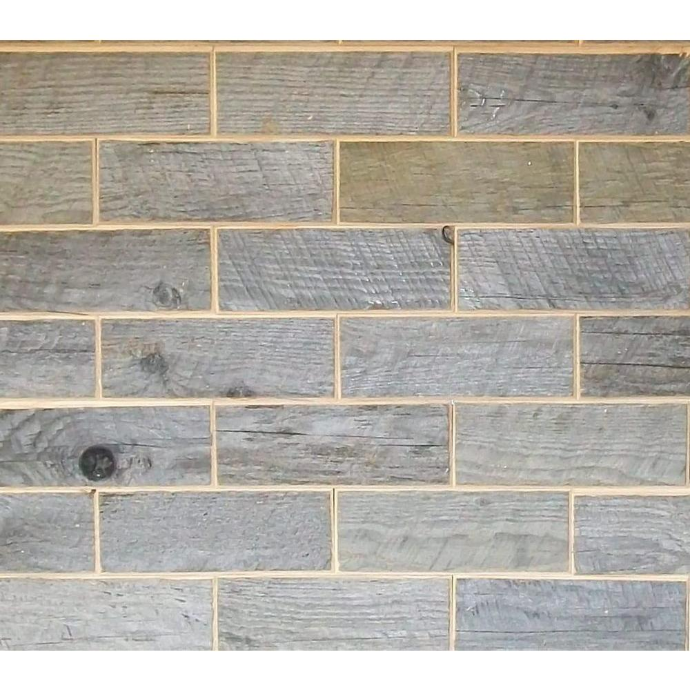 Rustix Woodbrix 3 in. x 8 in. Reclaimed Barn Board Wooden Wall Tile