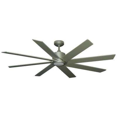 Northstar 60 in. Brushed Nickel Ceiling Fan with LED Light