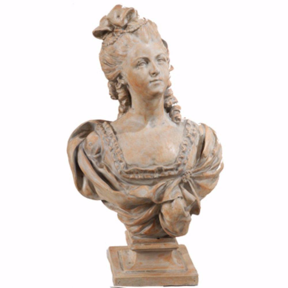 Artful Brown Female Sculpture Bust Statue
