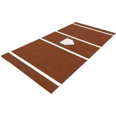 7 ft. x 12 ft. Home Plate Mat in Clay for Softball