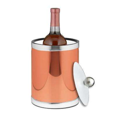Mylar 2 Qt. Polished Copper and Chrome Tall Ice Bucket