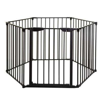 Mayfair Converta 29.5 in. H. 3-in-1 Play-Pen 6 Panel Gate, Black