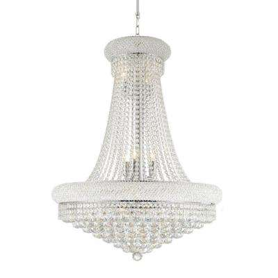 Empire Collection 14-Light Chrome and Clear Crystal Chandelier