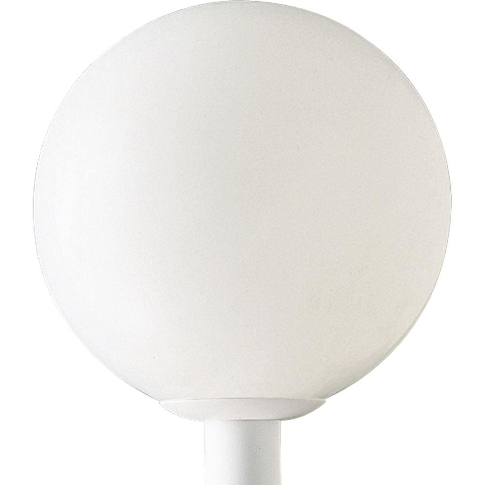 Progress Lighting Globe Collection 1 Light Outdoor White Post Lantern P5436 60 The Home Depot