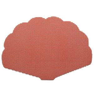 Kraftware Fishnet Shell Placemat in Brick (Set of 12) by Kraftware