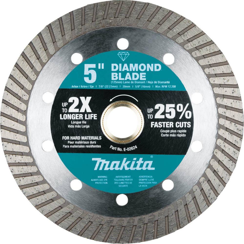 5 in. Diamond Blade, Turbo, Hard Material