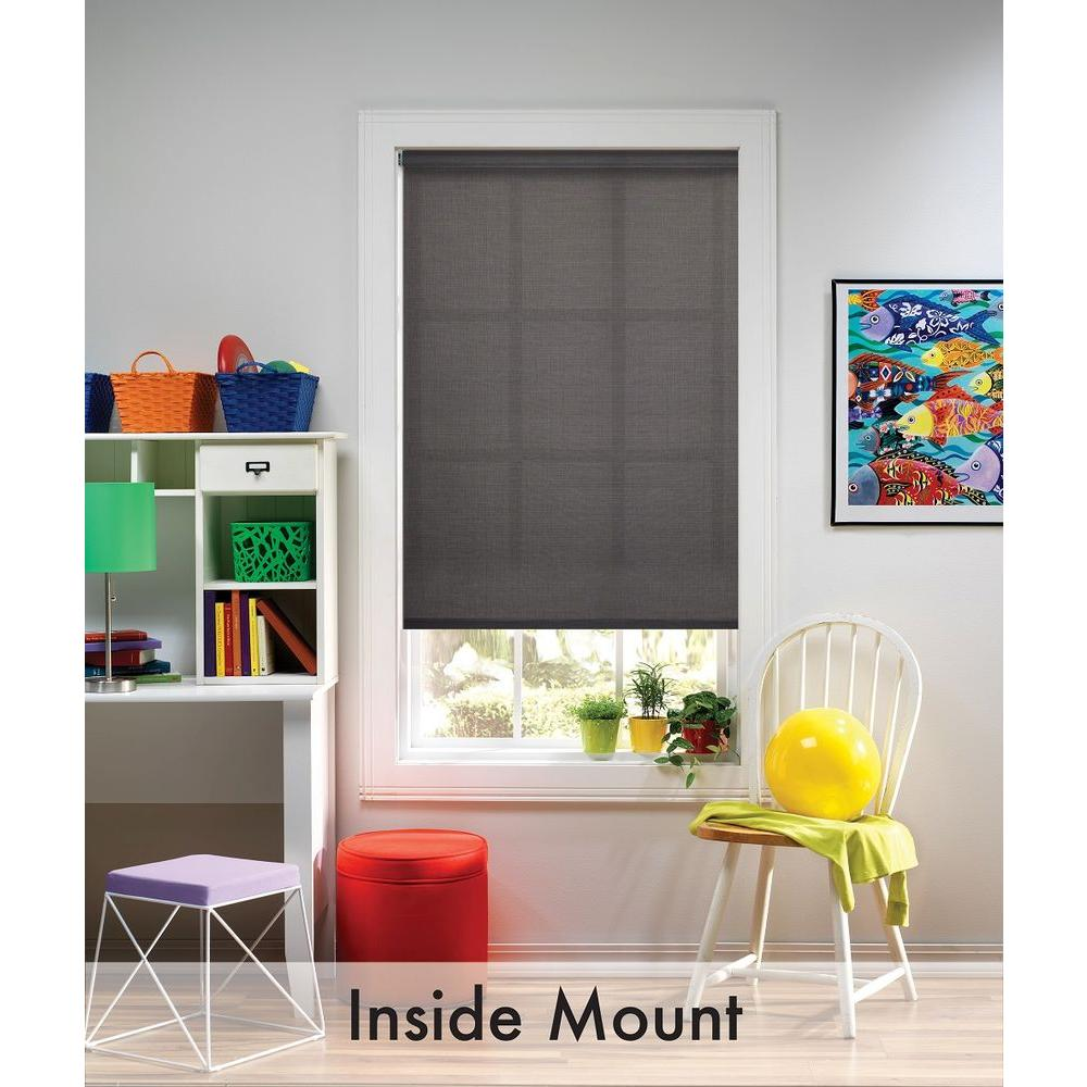 Bali Cut To Size Graphite Cordless Uv Blocking Fade Resistant Roller Shades 25 5 In W X 72 L