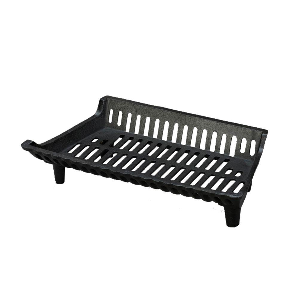 22 in. Cast Iron Fireplace Grate with 4 in. Legs