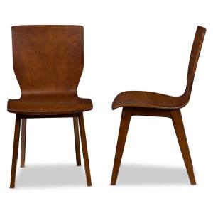 ingenious idea mid century side chair. Internet  301039954 Baxton Studio Elsa Medium Brown Wood Dining Chairs Set of 2 2PC