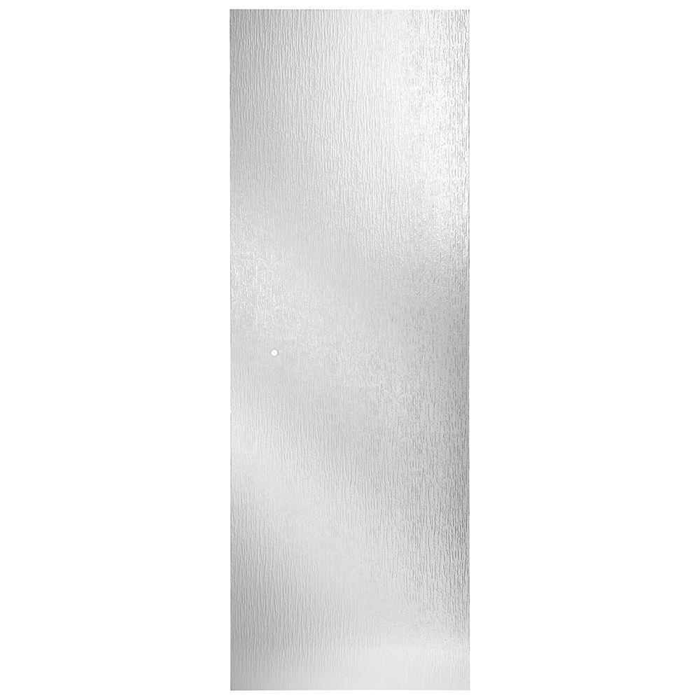 31 in. Semi-Frameless Pivot Shower Door Glass Panel in Rain
