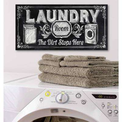 "12 in. x 24 in. ""Laundry"" Canvas Printed Wall Art"