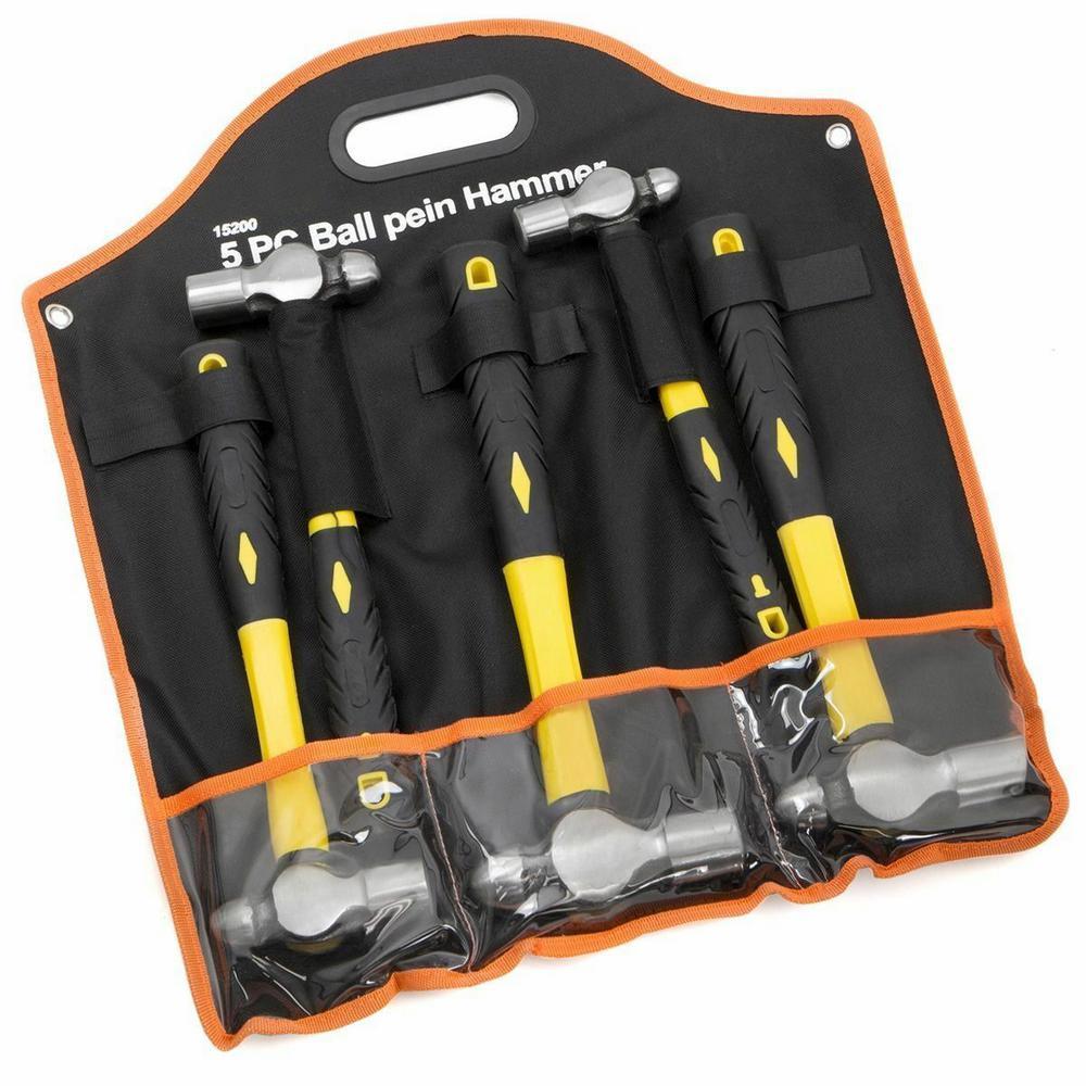 TPR-Griff 16 ml blau US PRO 1665 3pc Ball Pein Hammers 16 32oz Handle 3-teiliges Schlosser-Set mit 8 Kugelhammern