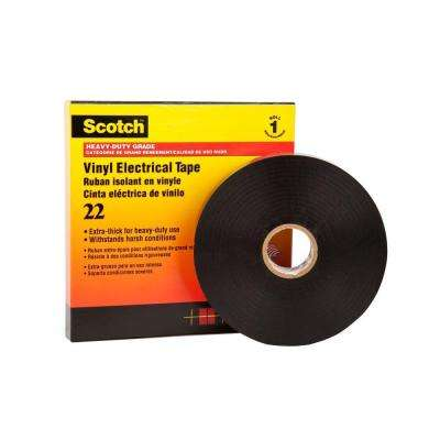 2 in. x 108 ft. Heavy Duty Vinyl Electrical Tape - Black (Case of 12)