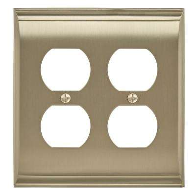 Candler 2 Receptacle Golden Champagne Wall Plate