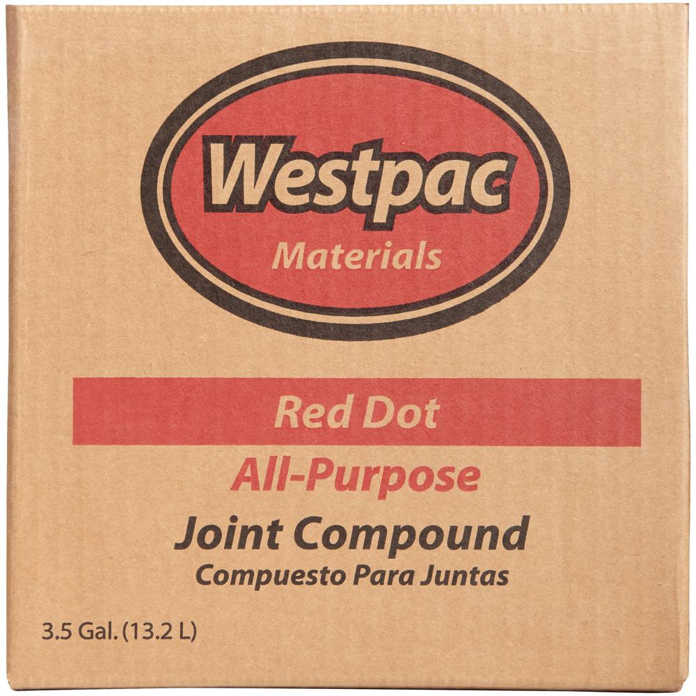 Westpac Materials 3 5 Gal Red Dot All Purpose Pre Mixed Joint Compound 18040h The Home Depot