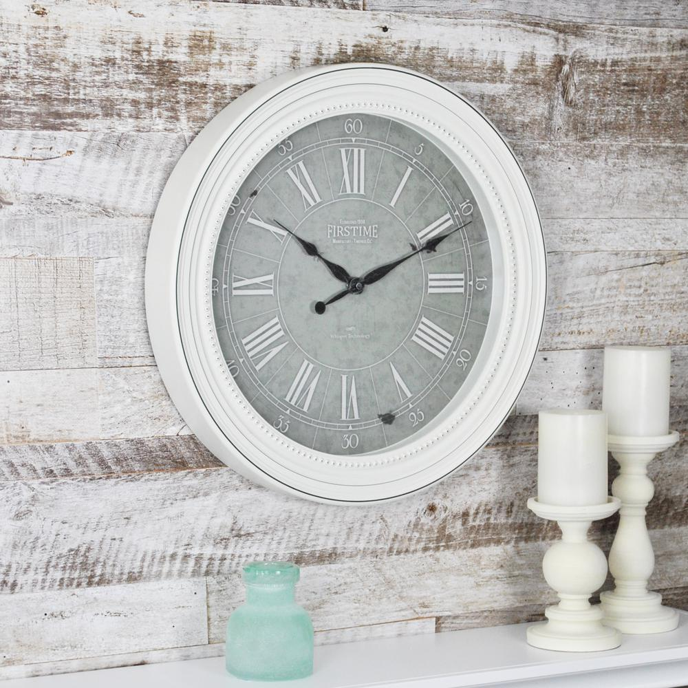 firstime shabby chic wall clock 99674 the home depot rh homedepot com shabby chic wall decor shabby chic wall clock