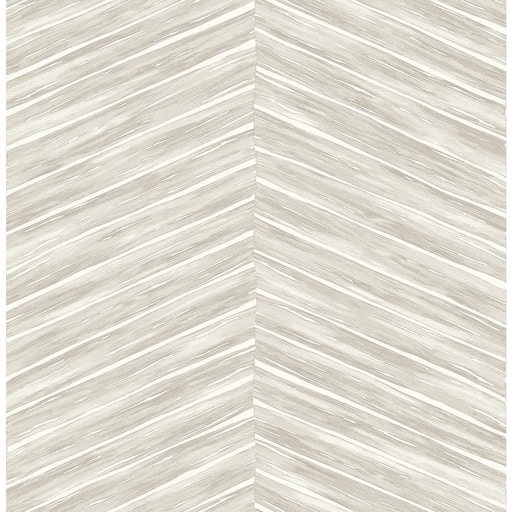 8 in. x 10 in. Pina Light Grey Chevron Weave Wallpaper Sample