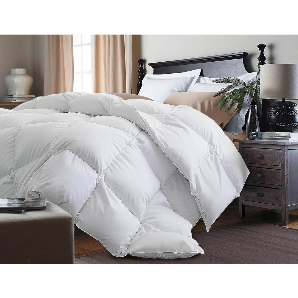 with power duvet polyester lifetime baffle insert hypoallergenic fiberfill siliconized down twin plush comforter feather oz corner luxurious lutwsiwhgodo white box weight warranty loops goose alternative design fill size