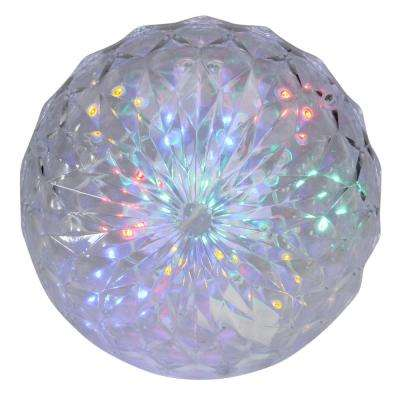 "6"" Multi-Color LED Hanging Crystal Sphere Ball Outdoor Christmas Decoration"