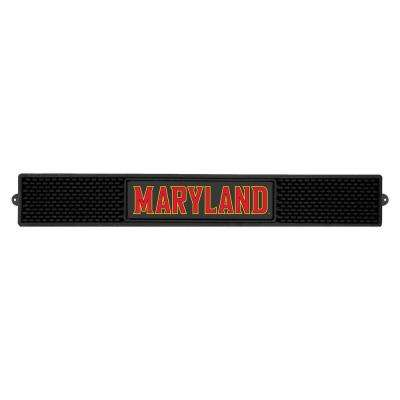 NCAA- 3.25 in. x 24 in. Black University of Maryland Drink Mat