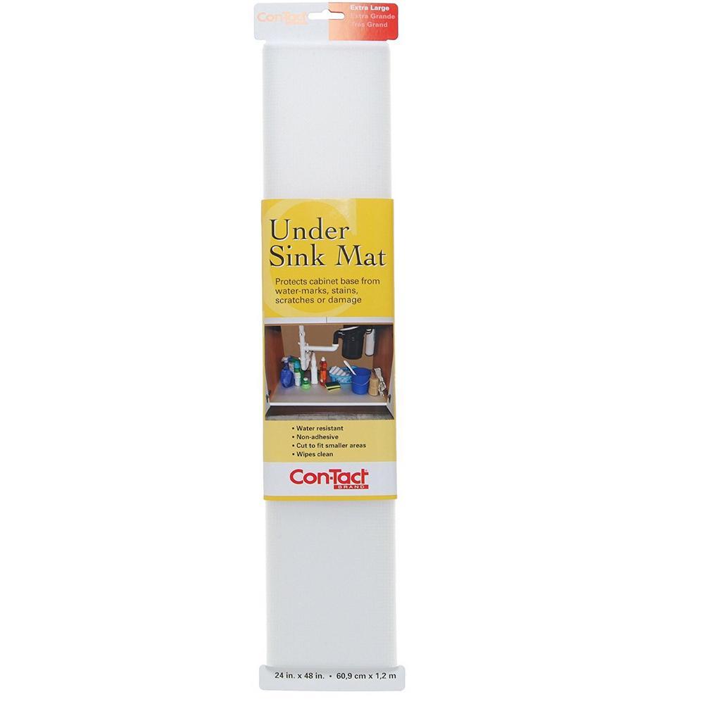 24 in. x 48 in. Woven Clear Under Sink Mat Shelf Liner (6-Mats)